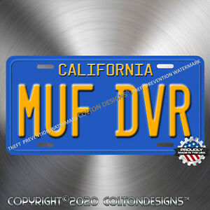 Cheech-amp-Chong-MUF-DVR-Up-in-Smoke-Love-Machine-Aluminum-Prop-License-Plate-Tag