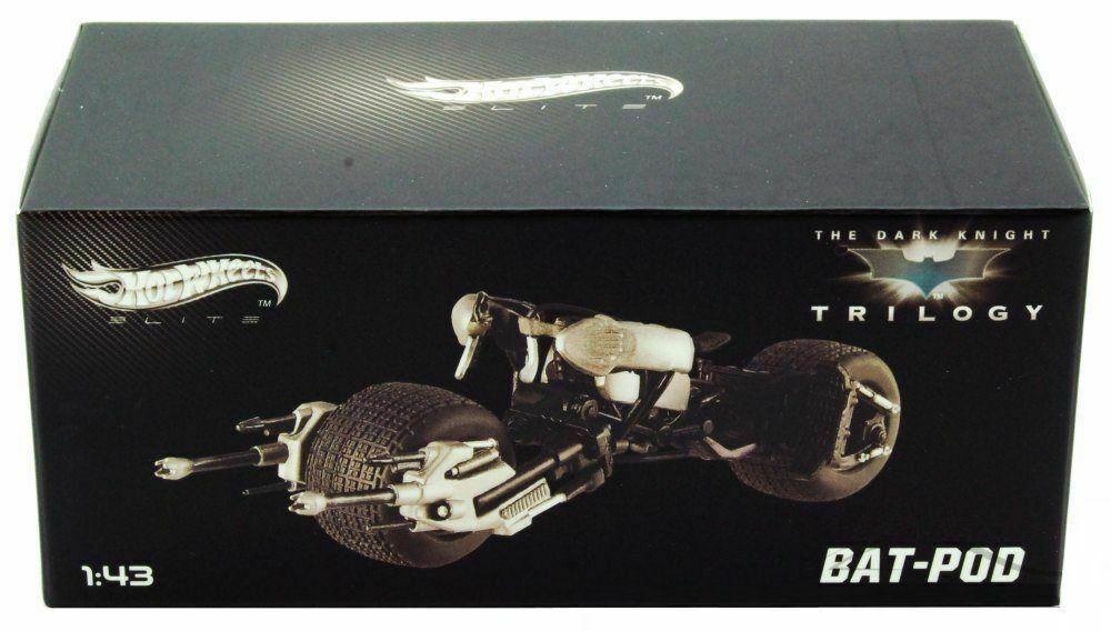 Hot Wheels ELITE Dark Knight Batman Rises 1//43 Scale Bat Pod New Sealed