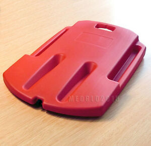 medical plastic cpr board cpr back board first aid ems red color cup