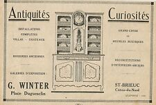 W5609 Antiquités Curiosités G. WINTER - Pubblicità 1922 - Advertising