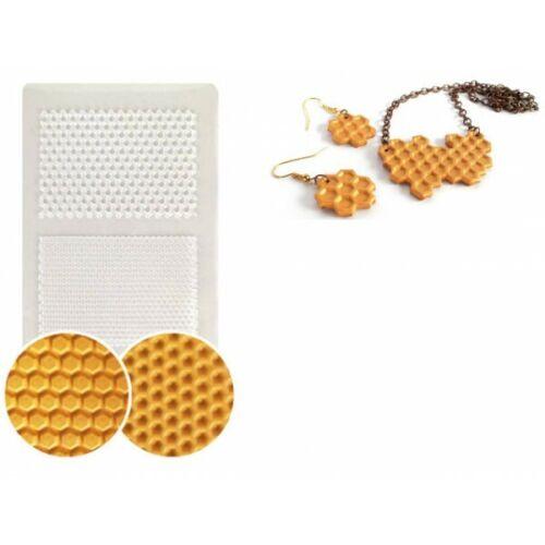Plaque de texture Nids d/'abeille 210x148mm pour créations Fimo Neuf