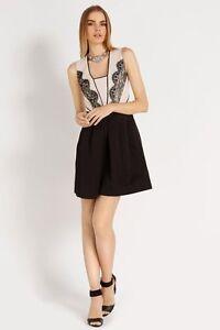 BNWT Myleene Klass Black Lace Applique Slim Leg Evening Occasion Jumpsuit 14 NEW