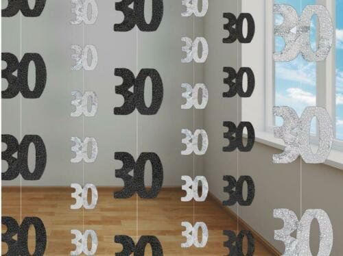 6 x Anniversary Birthday Hanging String Foil Banner Party Door Wall Decorations