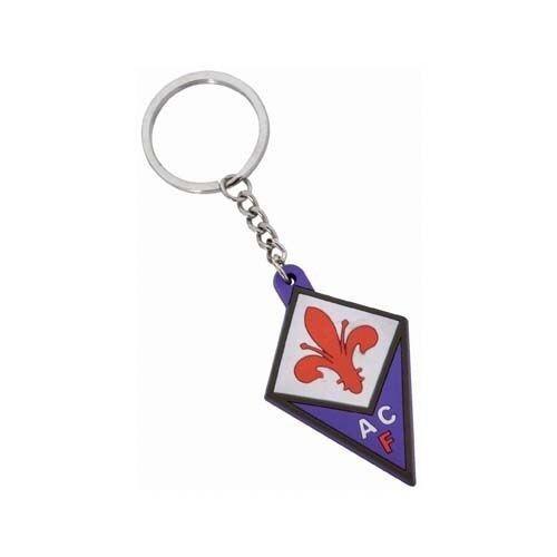 Portachiavi Ufficiale Fiorentina Gomma ACF viola in confezione regalo chiavi