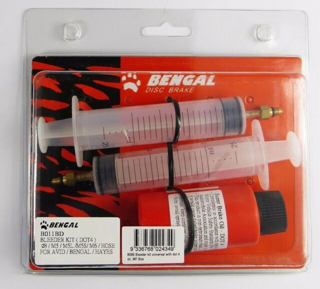 Bengal Universal Disc Brake Bleed Kit Hydraulic MTB DOT 4 suit AVID /& HAYES 8089