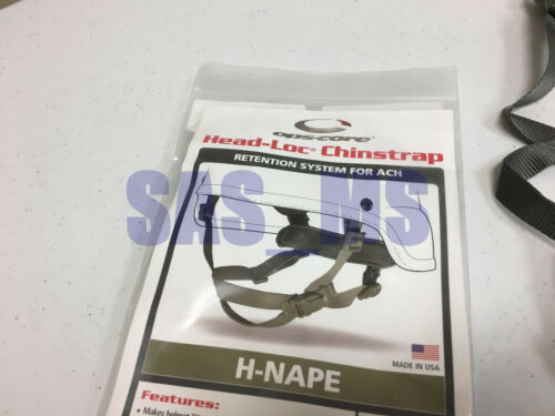 Ops-Core ARMY ISSUED ACU HEAD-LOC ACH RETENTION SYSTEM H-NAPE L//XL CHINSTRAP NEW