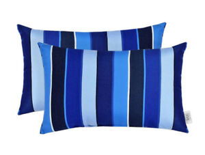 Set Of 2 Outdoor Decorative Lumbar Throw Pillows Sunbrella Milano