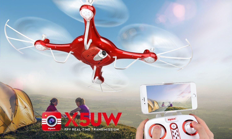 Syma X5UW Wifi FPV Drone RC Quadcopter  ha una fototeletelecamera HD per riprese Aeree (R  vendita economica