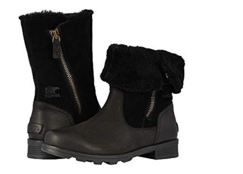 miglior servizio NIB Sorel Donna  Emelie Foldover Waterproof Leather stivali stivali stivali in nero  profitto zero