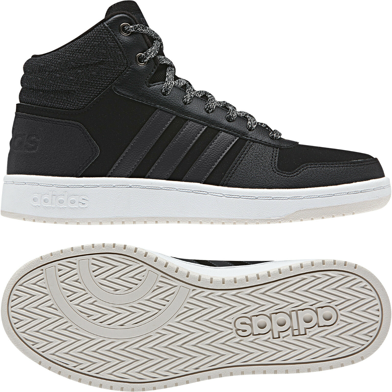 e10e2462dad40d Adidas Women shoes Casual Sneakers Fashion Hoops Mid Trainers Running  B42110 New