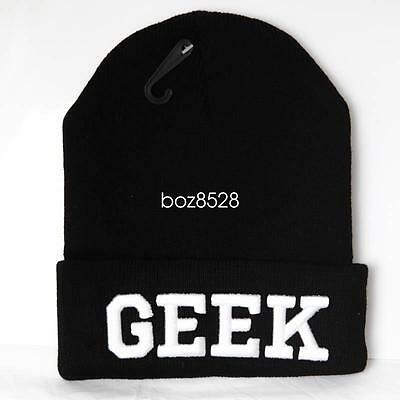 UNISEX MENS WOMANS KNIT KNITTED BEANIE RETRO COOL YOLO Black HAT