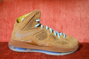 39e8a4ef1cc7 CLEAN Nike AIR LeBron 10 X EXT QS Hazelnut Brown Suede Size 11 ...