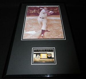 Ralph Kiner Framed 11x17 Game Used Bat & Photo Display Pirates