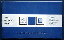 Owner's Manual * Betriebsanleitung 1972 Buick LeSabre Centurion Electra    (USA)