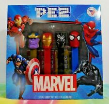 RARE Marvel Figure Pez Set of 4 Error Captain America / Thanos X 2