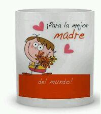 TAZAS DE CERAMICA PERSONALIZAS Para la mejor madre del mundo. Desayuno Mug
