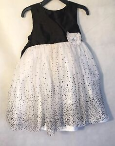 Marmellata-Girls-Holiday-Dress-Size-3T-Black-And-Whites-Layered-Tulle