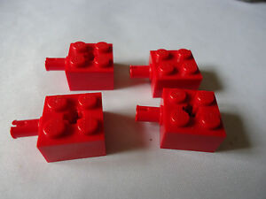 LEGO 6232 Brick Modified 2x2 with Pin and Axle Hole x4