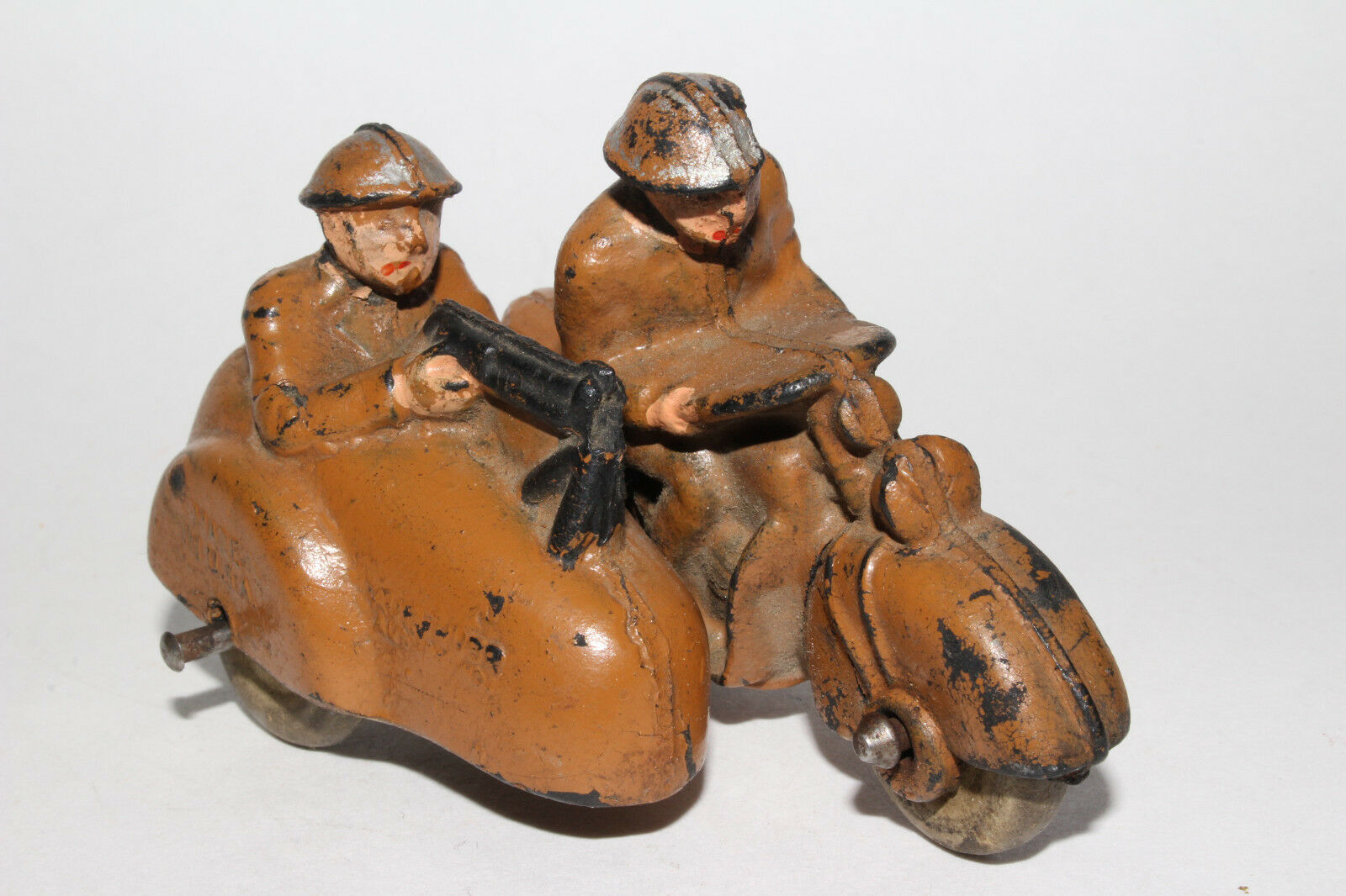 1930's Auburn Rubber Military Motorcycle Motorcycle Motorcycle with Sidecar, Kahki color, Original cae71d