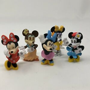 "Disney LOT OF 5 Minnie Mouse figurine 3"" SET cake topper ..."