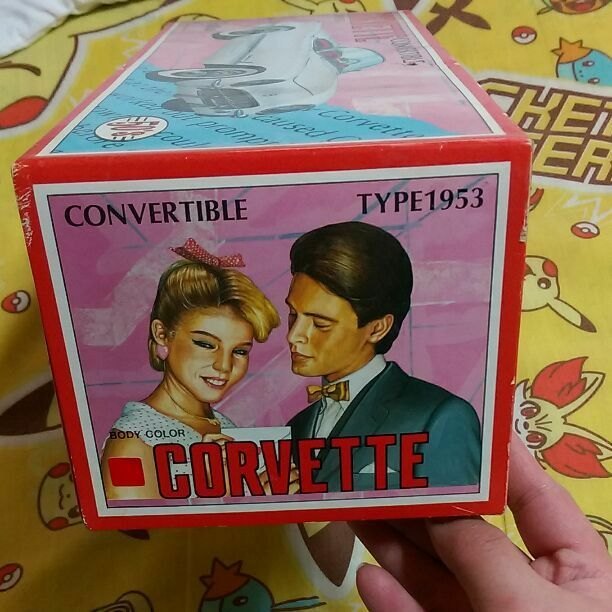 Rare Item CORVETTE CONgreenIBLE TYPE TYPE TYPE 1953 Made in Japan tin toy From JAPAN F S 1fab9b