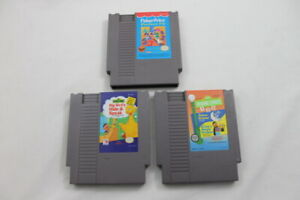 Lot-3-Nintendo-Entertainment-System-NES-Video-Games-Sesame-Street-Fisher-Price