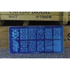 Nail Art Template Round Shape Flower Nail Manicure Konad Stamp Image Plate BCN03
