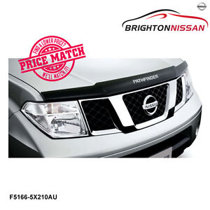 Image Is Loading New Genuine Nissan Pathfinder R51 Smoked Bonnet Protector