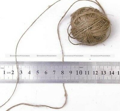 30M Natural Brown Jute Hemp Twine String Cord Shank Craft Making DIY 1/2/3mm