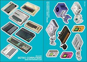 2-x-sticker-sheets-Sinclair-Commodore-Atari-Nintendo-Sega-Amstrad-etc