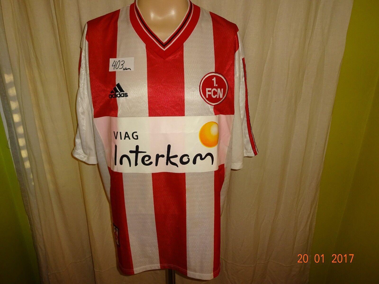 1.FC Nürnberg Original Original Original Adidas Heim Trikot 1998 99  Viag Interkom  Gr.XL- XXL 3475dc