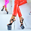 Indexbild 1 - Damenschuhe Club-Party Glitzer-LACK Pumps EXTREM Plateau XXXL GOGO High Heels