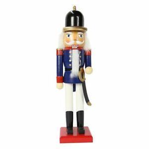 image is loading 38cm blue wooden standing christmas nutcracker christmas decorations