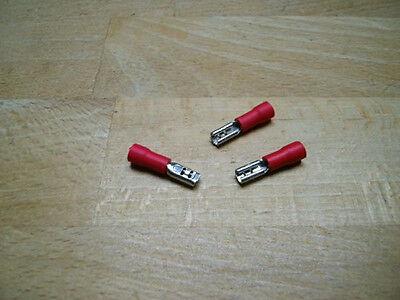 50 Flachsteckhülsen rot, Steckmaß 2,8 mm, Kabelschuhe