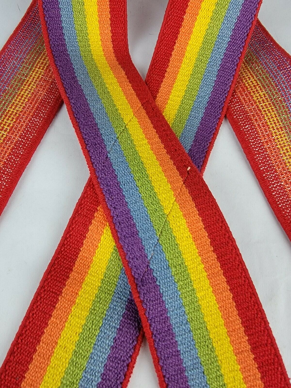 "Vintage 2"" x 35"" Rainbow Suspenders Adjustable Un… - image 4"