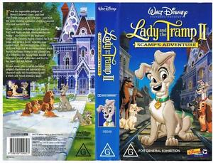 Disney Lady And The Tramp 2 Scamp S Adventure Rare Vhs Tape Ebay