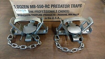 Coyote Fox Trapping Supplies 2 MB 550 Offset 2 Coil Traps