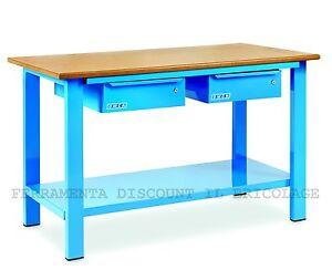 Banco Di Lavoro Con Cassetti : Banco da lavoro con cassetti pianale in legno lung mt per