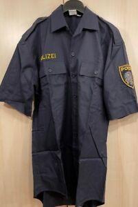 Polizeihemd blau - Polizei - Kurzarmhemd Gr./Halsweite 36