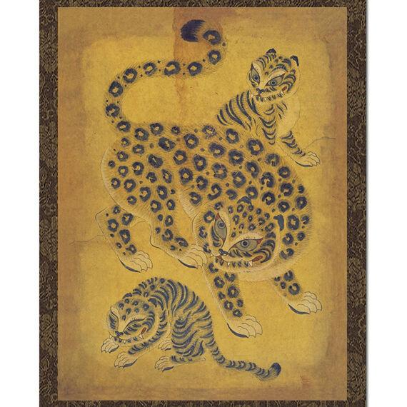 Tableau Art Coréen Célèbre Peinture Corée Dynastie Joseon Minhwa TIGRE ASIE