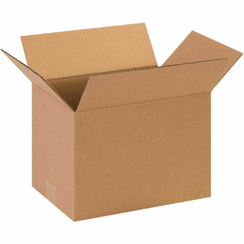 """65 lbs Capacity Lot of 13/"""" x 9/"""" x 9/"""" Cardboard Corrugated Boxes 200#//ECT-32"""