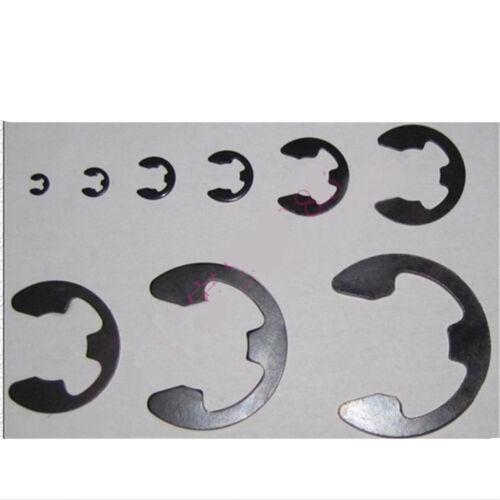 150Pcs E-Clip Assortment Kit 1.5 2 3 6 9 12 15 19 22 mm E Type Circlip