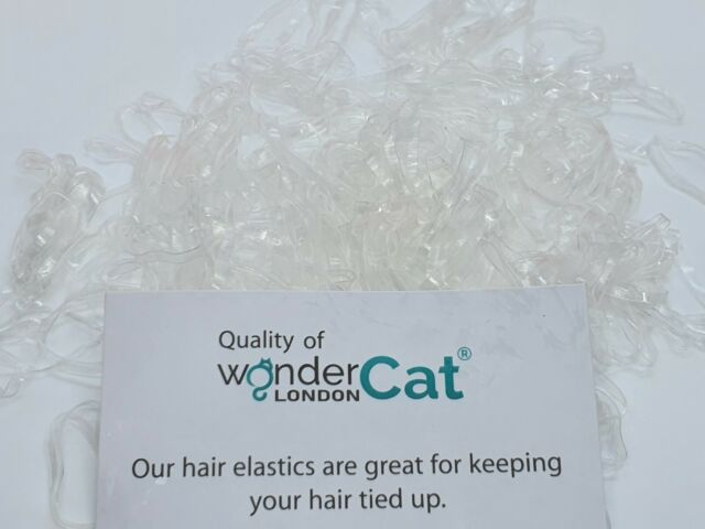 350X High Quality Clear Hair Elastics Rubber Bands Braids Plaits Small Bands
