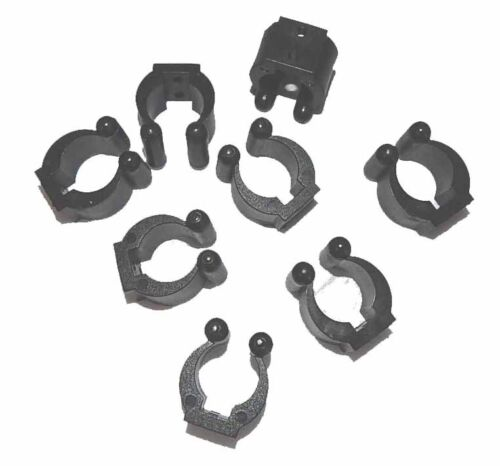 Deluxe Small Replacement Clips for Wall Mounted Pool Cue Holders Set of 8