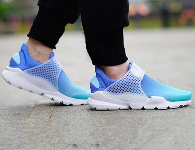 Women's Nike Sock Dart BR Breeze Gradient bluee Indigo Teal White 896446-400 Sz 5