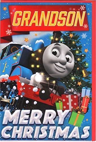 Thomas the tank engine Grandson Christmas Card Merry Christmas …  NEW