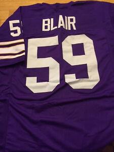pretty nice 045f3 12064 Details about Vikings Matt Blair custom unsigned jersey