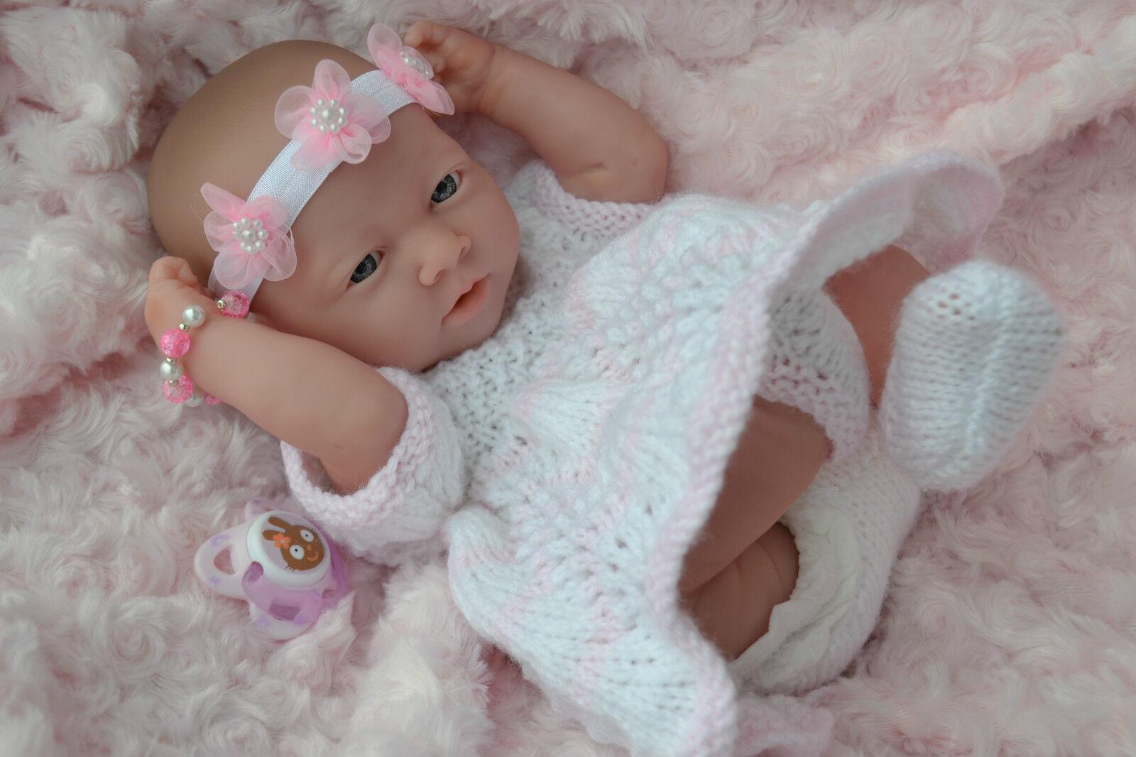 PJs  ESME   REALISTIC BABY GIRL DOLL BERENGUER LA NEWBORN +  EXTRAS REBORN  PLAY
