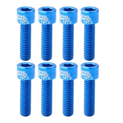 8pcs Bolts Screws for MTB Road Mountain Bike Bicycle Stem Bolt Screw Blue