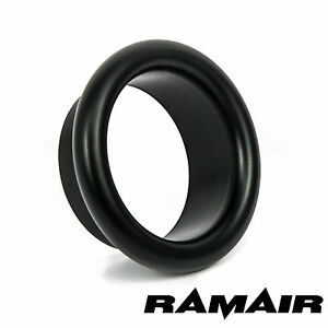 RAMAIR Aluminium Noir 100mm Bellmouth Trompette Embout Admission Air Entonnoir